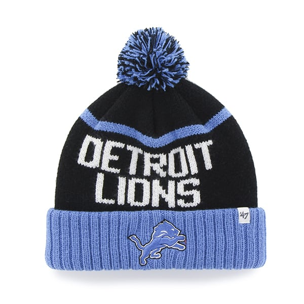 Detroit Lions Linesman Cuff Knit Black 47 Brand Hat