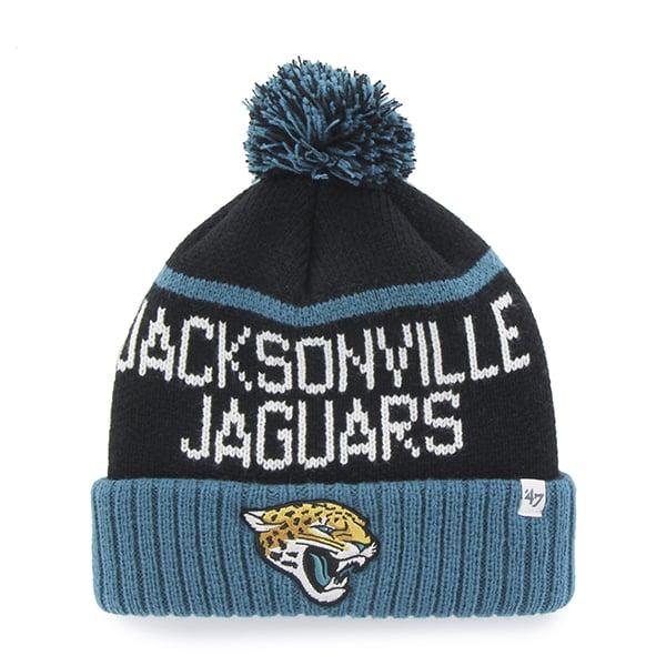 Jacksonville Jaguars Linesman Cuff Knit Black 47 Brand Hat