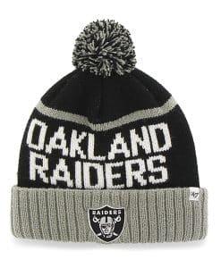 Oakland Raiders Linesman Cuff Knit Black 47 Brand Beanie Hat