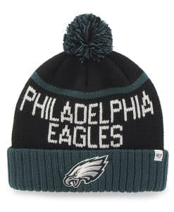 Philadelphia Eagles Linesman Cuff Knit Black 47 Brand Hat