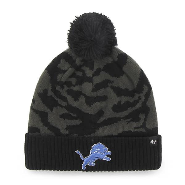 Detroit Lions M Twenty Nine Cuff Knit Charcoal 47 Brand Hat