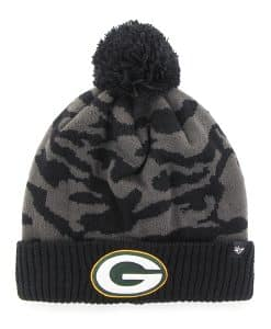Green Bay Packers M Twenty Nine Cuff Knit Charcoal 47 Brand Hat