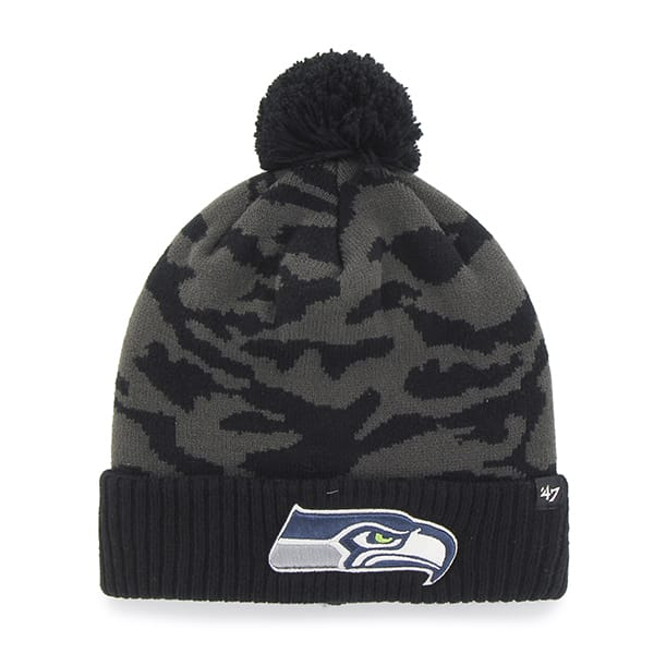 Seattle Seahawks M Twenty Nine Cuff Knit Charcoal 47 Brand Hat
