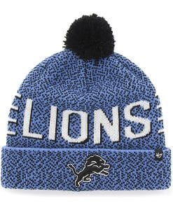 Detroit Lions Mezzo Cuff Knit Blue Raz 47 Brand Hat