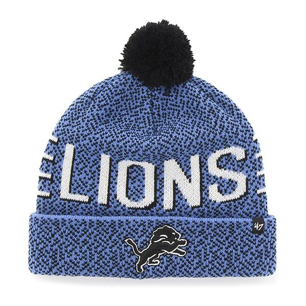 064c7ff7fba Detroit Lions Mezzo Cuff Knit Blue Raz 47 Brand Hat - Detroit Game Gear