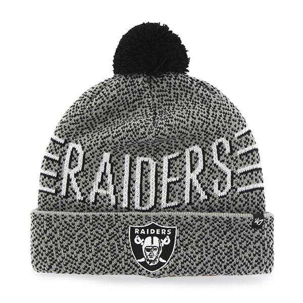 Oakland Raiders Mezzo Cuff Knit Gray 47 Brand Hat