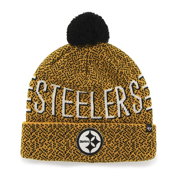 Pittsburgh Steelers Mezzo Cuff Knit Gold 47 Brand Hat