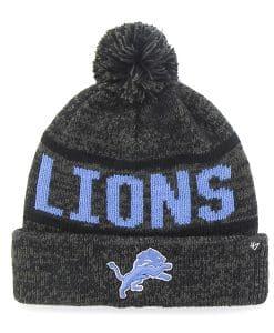 Detroit Lions Northmont Cuff Knit Charcoal 47 Brand Hat