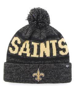 New Orleans Saints Northmont Cuff Knit Charcoal 47 Brand Hat