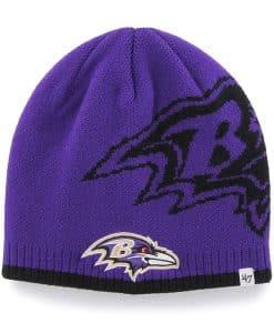 Baltimore Ravens Peaks Beanie Purple 47 Brand Hat