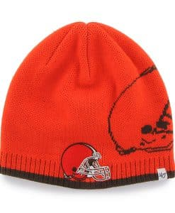 Cleveland Browns 47 Brand Orange Peaks Thunder Beanie Hat
