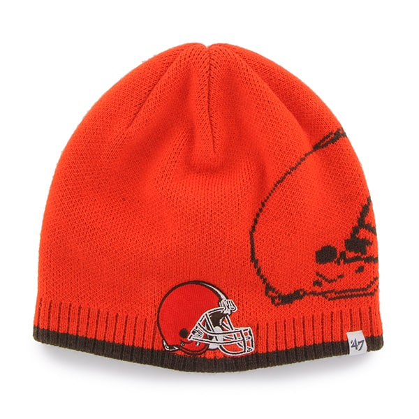 Cleveland Browns Peaks Beanie Thunder 47 Brand Hat