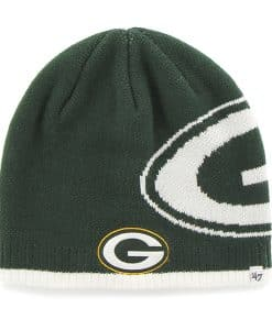 Green Bay Packers Peaks Beanie Dark Green 47 Brand Hat