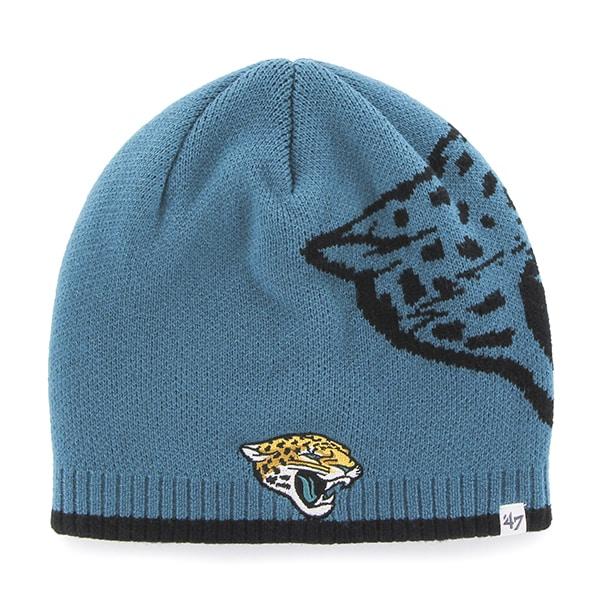 Jacksonville Jaguars Peaks Beanie Dark Teal 47 Brand Hat