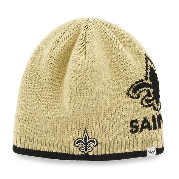 New Orleans Saints Peaks Beanie Light Gold 47 Brand Hat