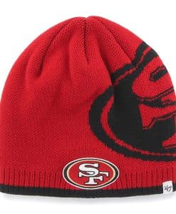 San Francisco 49Ers Peaks Beanie Red 47 Brand Hat