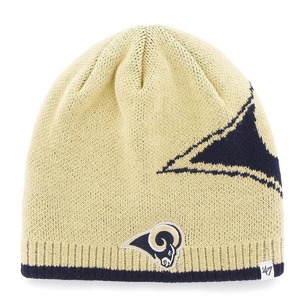 lowest price f75b6 9b513 Los Angeles Rams Peaks Beanie Light Gold 47 Brand Hat - Detroit Game Gear