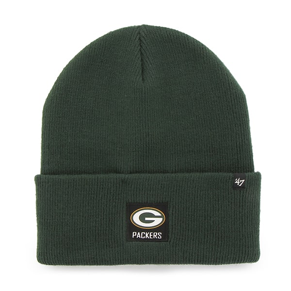 Green Bay Packers Portbury Cuff Knit Dark Green 47 Brand Hat