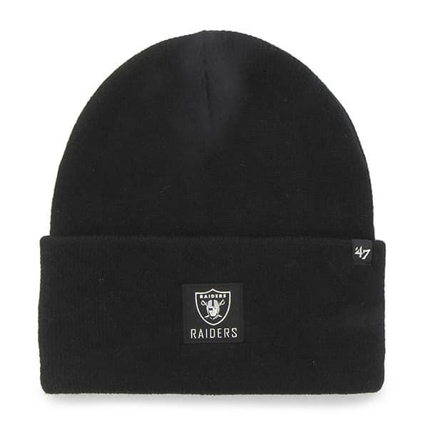 Oakland Raiders Portbury Cuff Knit Black 47 Brand Hat