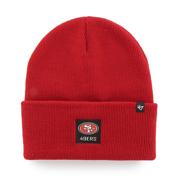 San Francisco 49Ers Portbury Cuff Knit Red 47 Brand Hat