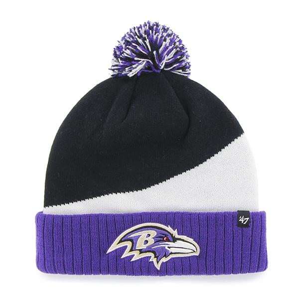 Baltimore Ravens Rockhead Cuff Knit Black 47 Brand Hat