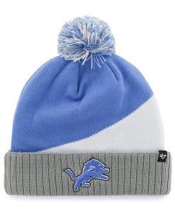 Detroit Lions Rockhead Cuff Knit Blue Raz 47 Brand Hat