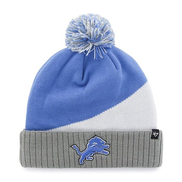 aab60141838 Detroit Lions Rockhead Cuff Knit Blue Raz 47 Brand Hat - Detroit ...