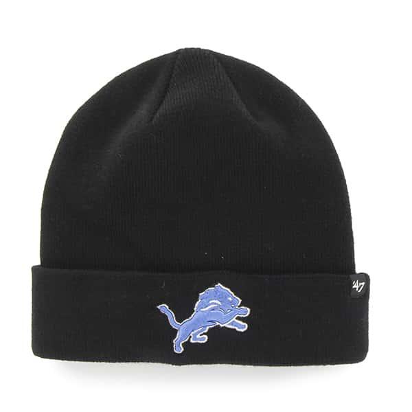 Detroit Lions Recluse Cuff Knit Black 47 Brand Hat