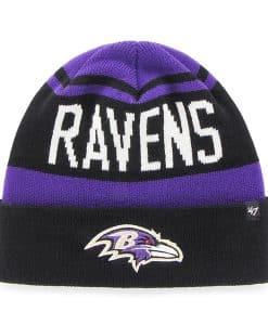Baltimore Ravens Rift Cuff Knit Purple 47 Brand Hat