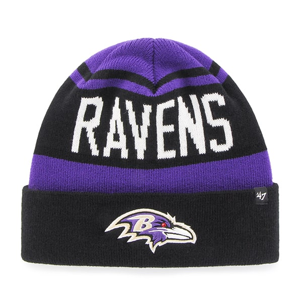 Baltimore Ravens Rift Cuff Knit Purple 47 Brand Hat