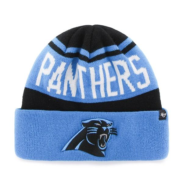 Carolina Panthers Rift Cuff Knit Black 47 Brand Hat