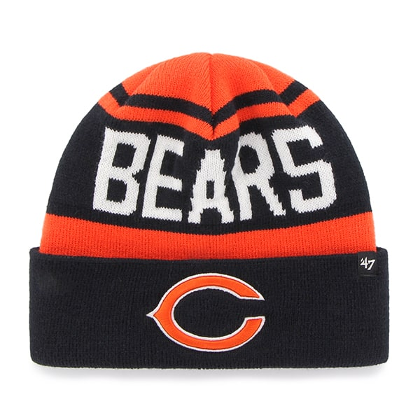 Chicago Bears Rift Cuff Knit Orange 47 Brand Hat