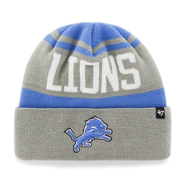 Detroit Lions Rift Cuff Knit Blue Raz 47 Brand Hat
