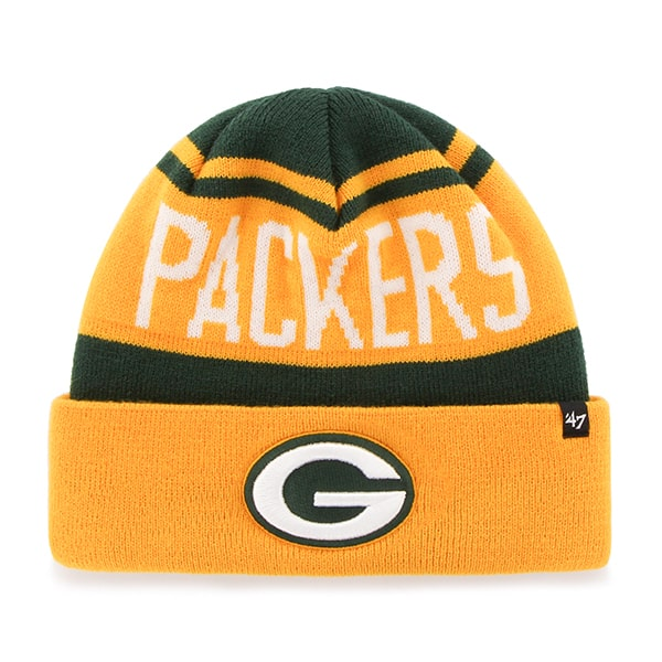Green Bay Packers Rift Cuff Knit Dark Green 47 Brand Hat