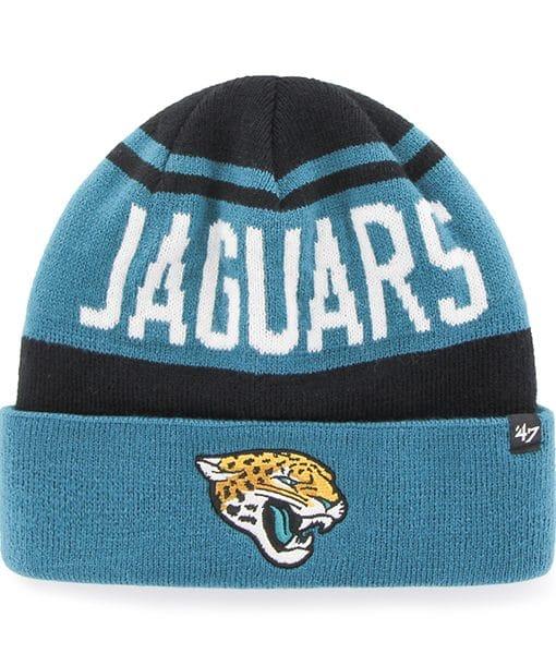 Jacksonville Jaguars Rift Cuff Knit Black 47 Brand Hat