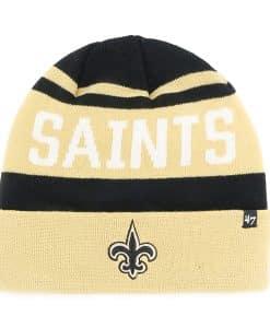 New Orleans Saints Rift Cuff Knit Black 47 Brand Hat