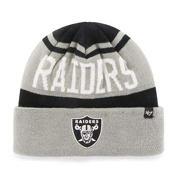Oakland Raiders Rift Cuff Knit Black 47 Brand Hat