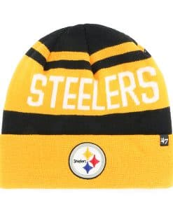 Pittsburgh Steelers Rift Cuff Knit Black 47 Brand Hat