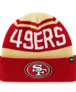 San Francisco 49Ers Rift Cuff Knit Light Gold 47 Brand Hat