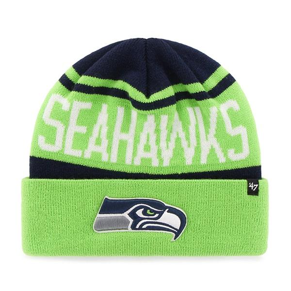 Seattle Seahawks Rift Cuff Knit Light Navy 47 Brand Hat