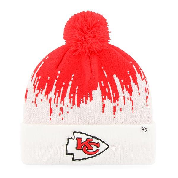 093531774 Kansas City Chiefs Riser Cuff Knit Torch Red 47 Brand Hat - Detroit Game  Gear