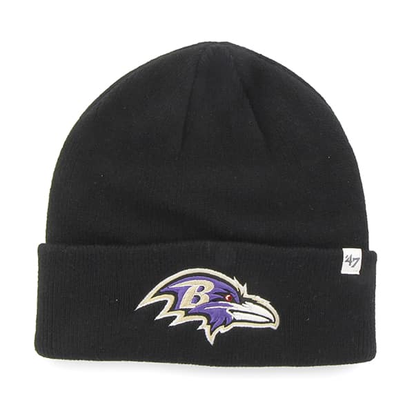 Baltimore Ravens Raised Cuff Knit Black 47 Brand Hat