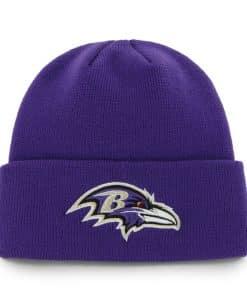 Baltimore Ravens Raised Cuff Knit Purple 47 Brand Hat