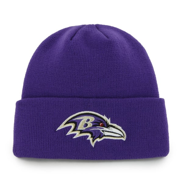 Baltimore Ravens Raised Cuff Knit Purple 47 Brand Hat