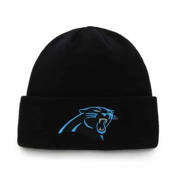 Carolina Panthers Raised Cuff Knit Black 47 Brand Hat