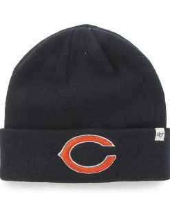 Chicago Bears Raised Cuff Knit Navy 47 Brand Hat