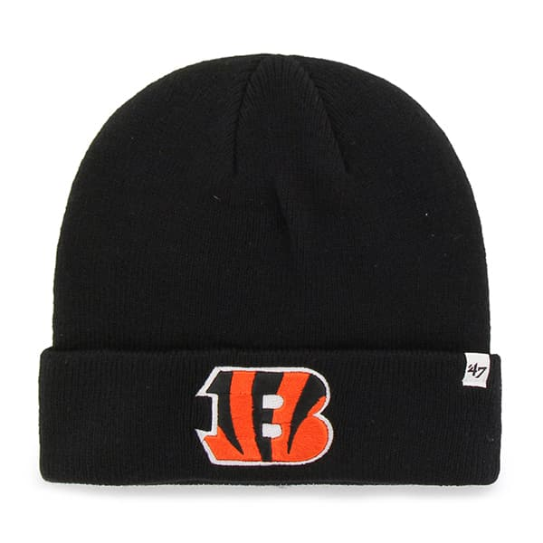 Cincinnati Bengals Raised Cuff Knit Black 47 Brand Hat