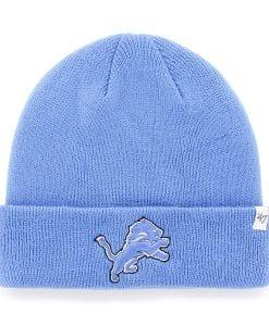 Detroit Lions Raised Cuff Knit Blue Raz 47 Brand Hat