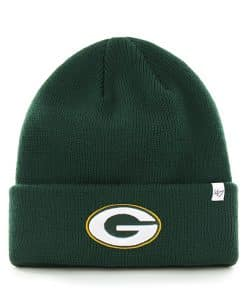 Green Bay Packers Raised Cuff Knit Dark Green 47 Brand Hat