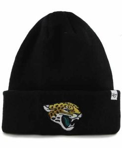 Jacksonville Jaguars Raised Cuff Knit Black 47 Brand Hat